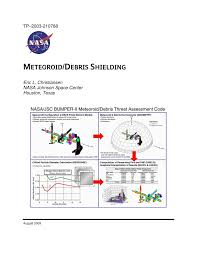 Whipple Shield Design Pdf Meteoroid Debris Shielding