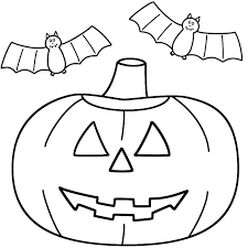 Small Picture PumpkinJack o Lantern with bats Coloring Page Halloween