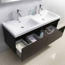 wall mounted double vanity. Fine Mounted Virtu USA Zuri 55 Inch Double Sink Wenge Bathroom Vanity Abersoch  Wall Mounted With W