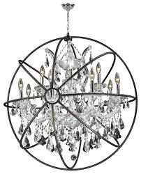foucault orb chandelier orb chandelier light clear crystal restoration hardware foucaults orb smoke crystal chandelier