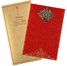 Red Wedding Card Design Wedding Card In Elegant Gift Style With Red Golden Satin