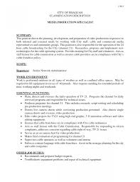 Enchanting Media Job Resume Templates Picture Collection
