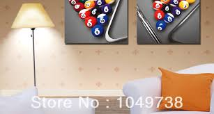 room wall home decor canvas paintings art billiards china mainland