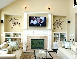 tv over fireplace mount television wall mounted hide wires above hiding