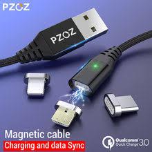 <b>PZOZ</b> 1M 2M Magnetic Cable Micro <b>usb Type C</b> Fast Charging ...