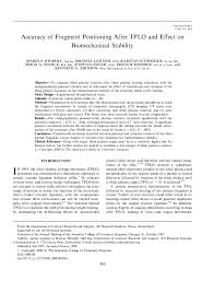 Pdf Accuracy Of Fragment Positioning After Tplo And Effect