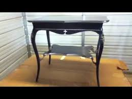 Black laquer furniture Traditional Japanese Youtube Black Lacquered Table Youtube