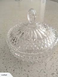 crystal candy bowl with lid dish trade me