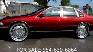 AceWhips.NET- ON SALE: Candy Red Chevy Caprice on 26