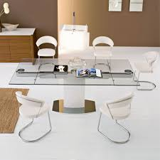 modern extendable glass dining tables for contemporary dining room decoration impressive dining room decorating design