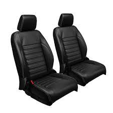 tmi seat upholstery sport black vinyl with white stitching set 4 door jeep wrangler jk 2016 2017