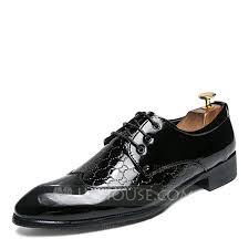 men s patent leather lace up dress shoes men s oxfords loading zoom