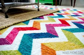 win a 539 x 839 mohawk home area rug multicolor chevron rug