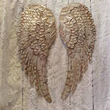 metal angel wings wall decor new metal angel wings wall decor distressed pearl white