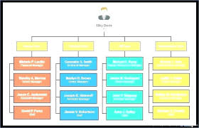 Matrix Organizational Structure Template Company Structure