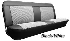 1969 72 chevy gmc truck houndstooth bench seat cover 3inch pleats with horizontal band