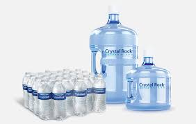 single serve bottled water and 3 and 5 gallon bottles