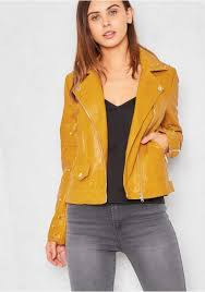 high quality women kendall calling black blue yellow metal henley mustard faux leather studded biker jacket kh534845 front pockets detailing faux leather