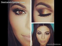 makeup for navy blue dress and brown eyes