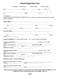 Patient Registration Form Templates - Fillable & Printable Samples ...
