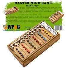 Wooden Strategy Games Mastermind Wooden Brain Teaser Game 90