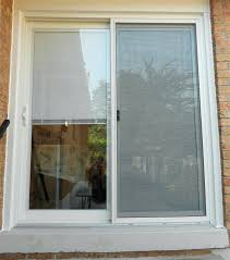 patio doors with blinds sliding