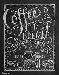 Chalkboard Kitchen Lily Val Coffee Love Coffee Art Print Chalkboard Art