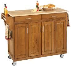 tiberius cuisine cart cottage oak wood top