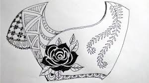 Saree Blouse Design Sketches Costume Making Sketch Pencil Drawing Ideas About Rose