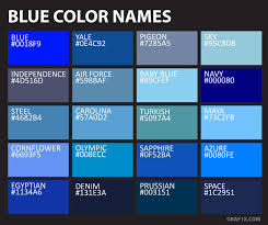 Color Chart With Names List Of Colors With Color Names Graf1x Com