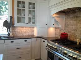 red brick tile backsplash kitchen design magnificent ...