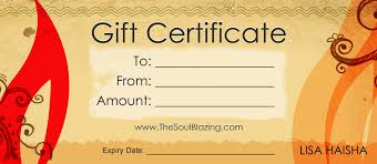 Personal Training Gift Certificate Template Gift Certificates Cityesporaco 18