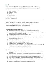Acca Finalist Cv Template Acca Accountant Cv Template Cover Letter