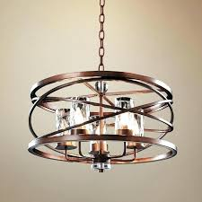 wide crystal chandelier modern bronze eternity 5 light 48