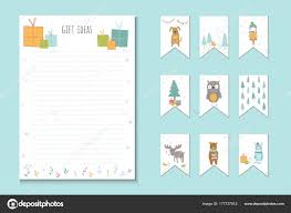 Cute Lists Christmas Holiday Lists Planner Cute Notes Vector