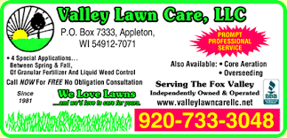 lawncare ad valley lawn care llc appleton wi 54914 yellowbook