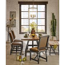 house home design ely lancaster 7 pc industrial dining set abode pany inside industrial