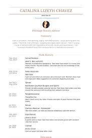 Server/Hostess Resume samples