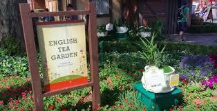 english tea garden sign for the tour