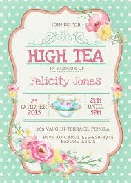 Tea Invitations Printable High Tea Invitation Printable For Bridal By Westminsterpaperco