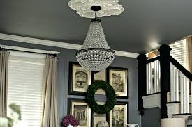 chandeliers pottery barn adele chandelier stacked crystal black floor lamp large size of in the