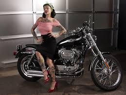 motorcycles harley davidson pin up