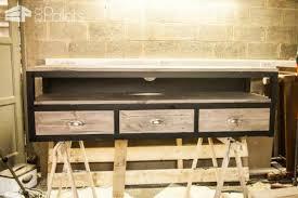 Pallet Wood TV Cabinet / Meuble TV Ralis En Bois De Palettes DIY Pallet  Video TutorialsPallet