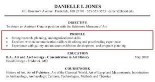Example Of A Profile For A Resumes Skills Profile Resume For Customer Service On Example Examples Of