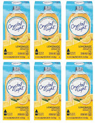 Crystal Light On The Go Natural Lemonade 10 Count Packets Pack Of 6