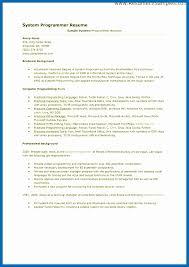 Programming Skills Resume Sample Best Of Developer Programmer Resume ...