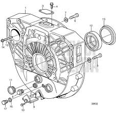 Volvo Penta Exploded view / schematic Flywheel Housing, SAE 1 for 14 ...