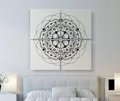 zoom on mandala wall art uk with modern mandala canvas print large canvas art 4 set square
