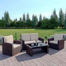 rattan garden sofa furniture set patio