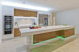 Led Lighting Kitchen Kitchen Grey Blue Modern Kitchen With Led Countertop Lighting And